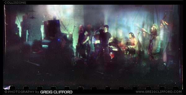A multi-exposure live shot using a vintage range camera and lens from the 1950's.